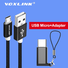 VOXLINK Micro USB Nylon Braided Cable Data Sync Charger For Samsung S9 S8 HTC huawei xiaomi mi8 7 Android Phone Cables
