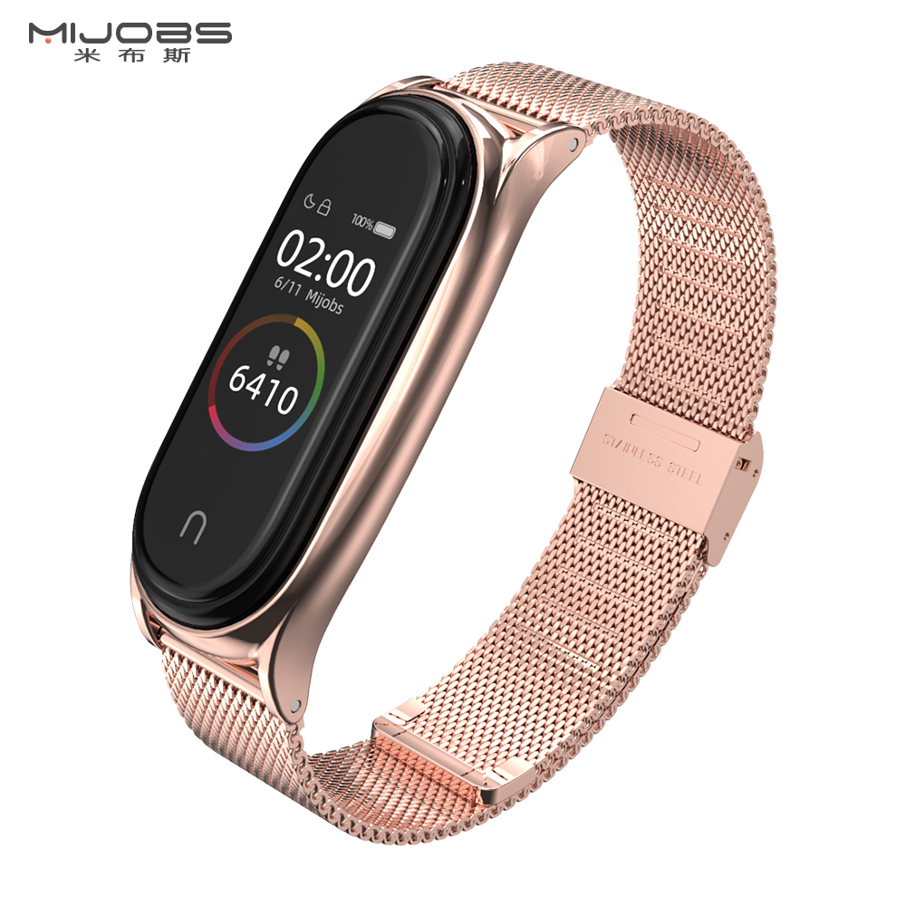Mi Band 4 Strap For Xiaomi Mi Band 4 Bracelet Metal Screwless Stainless Steel Mi Band 3 Strap Bracelet Miband 4 3 Correa