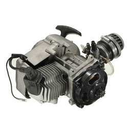 2 Stroke Pull Start Engine Motor Transmissie Motor Luchtfilter Mini Pocket Pit Quad Dirt Bike Atv 4 Wiel