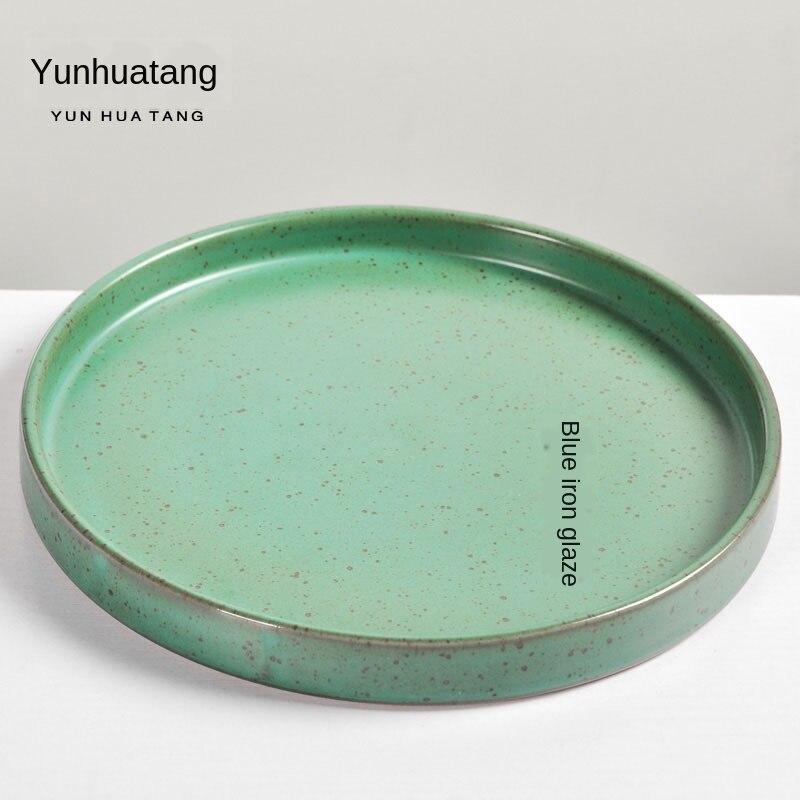 Plateau céramique soucoupe à thé en céramique | Roulement S soucoupe à thé Hu Dian soucoupe Kung Fu thé eau sèche-ampoule disque plateau à thé, Table de thé Gongfu service à thé, poterie