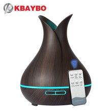 KBAYBO 400ml elettrico Ad Ultrasuoni Aroma umidificatore Diffusore di Olio Essenziale di Legno Del Grano purificatore del creatore della foschia HA CONDOTTO LA luce per la casa