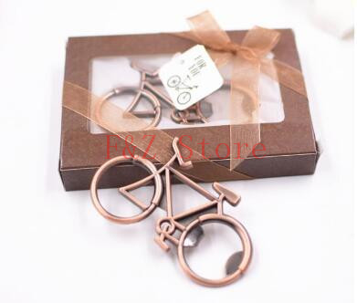 100pcs/Metal Beer Bottle Opener Cute Bike Bicycle Keychain Key Rings For Lover Biker Bottle Openers Creative Gift For Cycling