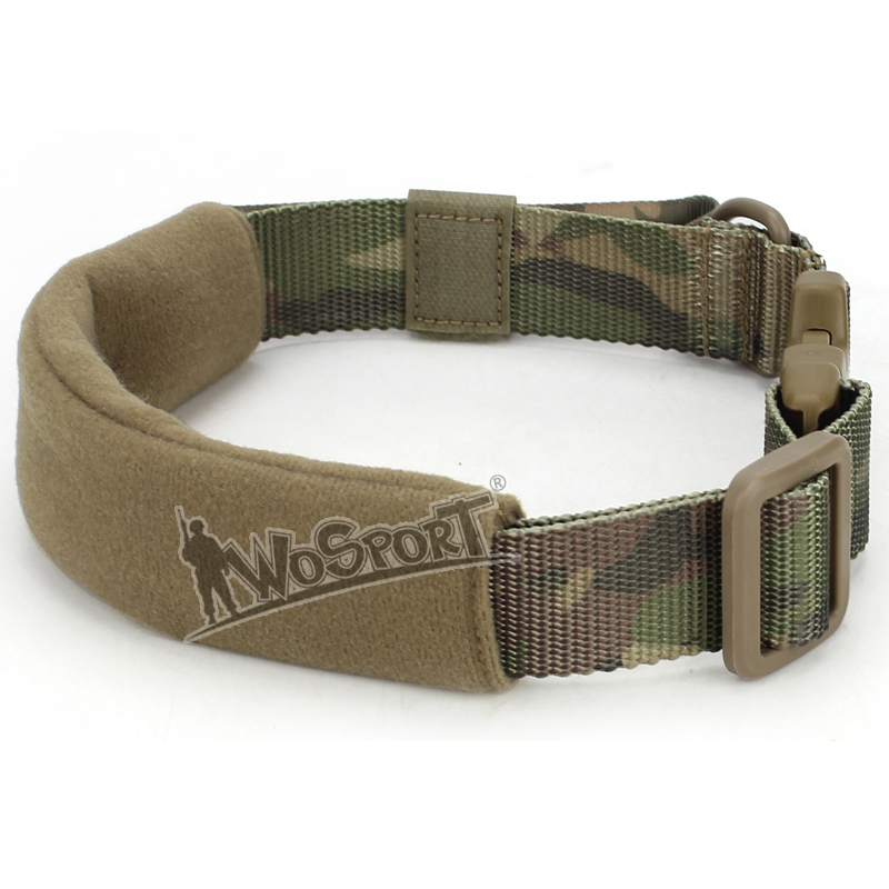 Wosport Tactical Dog Collar Mountain Mascot Camouflage Adjustable Dog Collar Drifting Tour Nylon Durable Hiking Climb Rope 38 OD