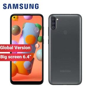 Globla версия Samsung Galaxy A11 A115F/DS мобильный телефон 32 ГБ ROM 2 Гб RAM 6,4