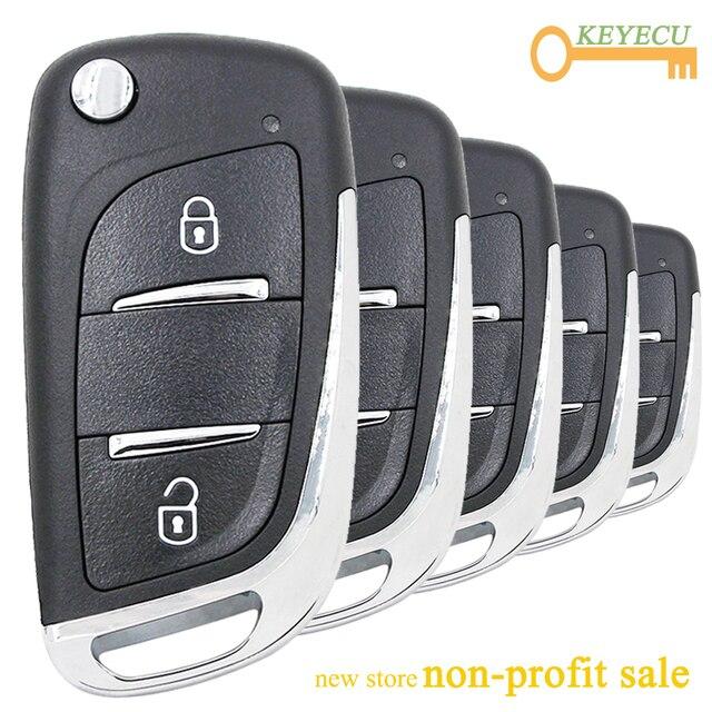 KEYECU 5 шт./лот KEYDIY NB Series NB11 2, многофункциональный ключ дистанционного управления KD 2 кнопки для KD900/ KD900 +/ URG200/ KD X2