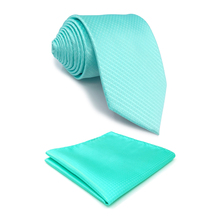 C34 Aqua Solid Silk Mens Necktie Tie Classic Brand New extra long size Ties for male Fashion Wedding Acceossories Hanky