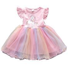 Платье для маленьких девочек принцесса Vestido Детская одежда От 1 до 5 лет Детское платье на день рождения летняя детская одежда для девочек; По...