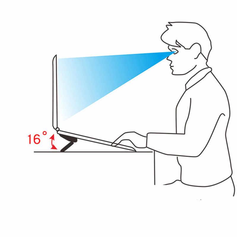 מיני נייד Invisible בעל מחשב נייד מתכוונן קירור רגליים Stand מחזיק מתקפל נייד חום הפחתת נייד אבזר