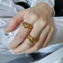 Brass Heart Band Statement Rings  Women  Jewelry Punk Party Designer Runway T show Club Cocktail Party Boho Japan Korean Ins