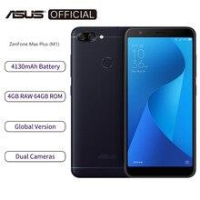 هاتف ذكي من Asus Zenfone Max Plus M1 ZB570TL الإصدار العالمي بذاكرة وصول عشوائي 4 جيجابايت وذاكرة قراءة فقط 64 جيجابايت وشاشة 5.7 بوصة ومعالج ثماني النواة وبطارية 4130 مللي أمبير في الساعة تحديث OTA