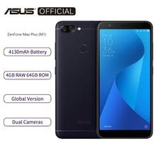 """Asus zenfone smartphone max plus m1 zb570tl, telefone celular, versão global, 4gb ram, 64gb rom, tela 5.7 """", octa core atualização ota de 4130mah,"""