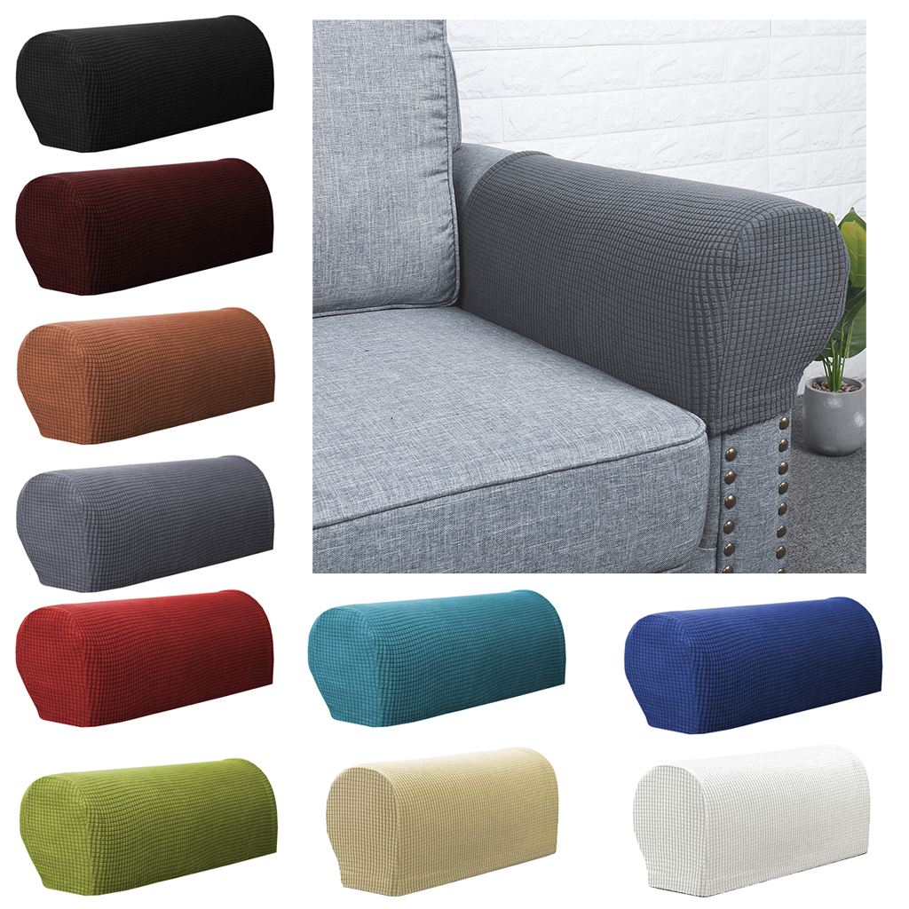Set di 2 coprisedili per braccioli elasticizzati Premium coprisedili adatti per braccioli elasticizzati protezioni per braccioli per divani coprisedili per braccioli per mobili