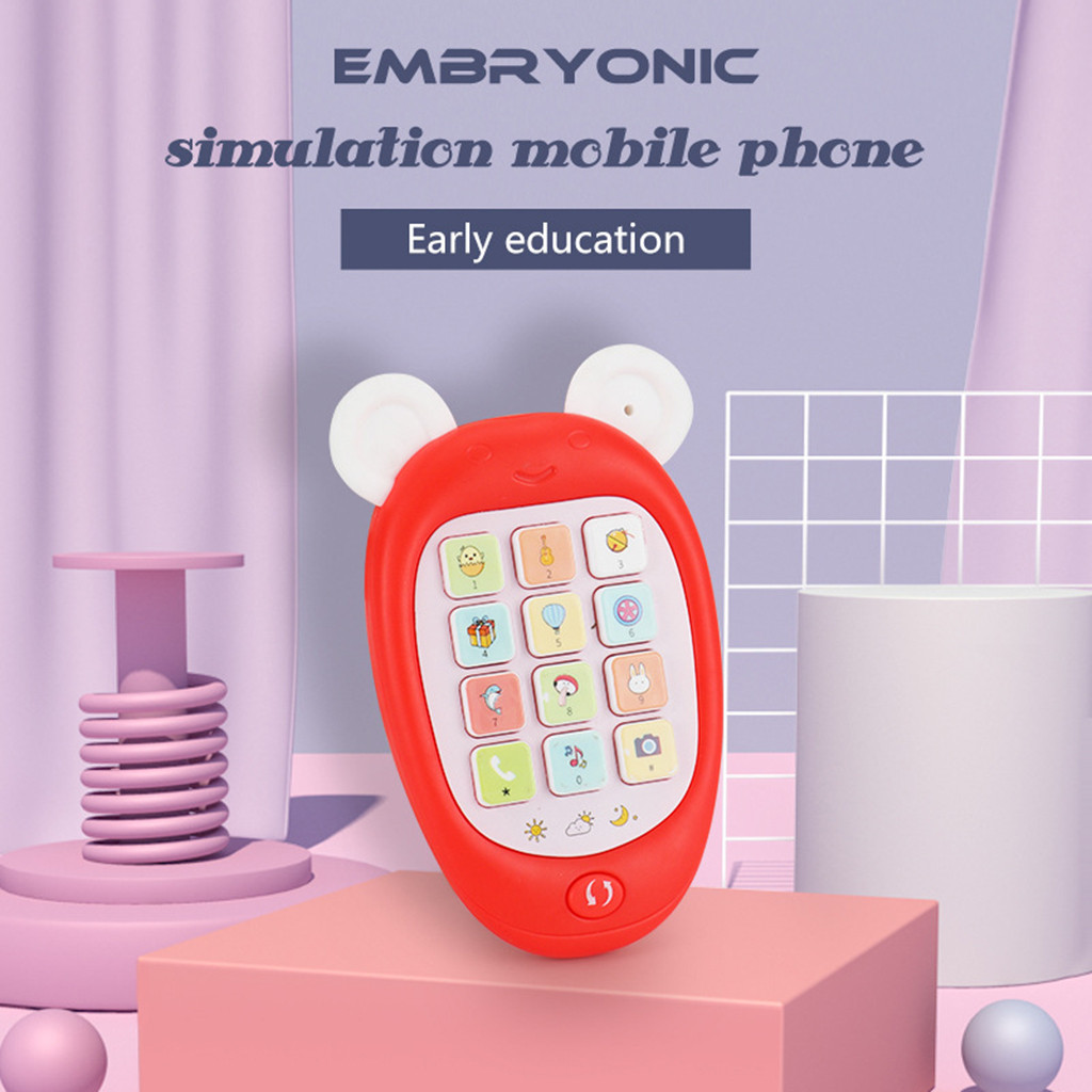 Smartphone Mobile Phone Musical Toys For Kids Baby Educational Learning Early M1205