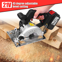 Circular Saw Cordless Bevel-Cutting 30t-Blades Adjustable 21V Battery with 110mm 6500RPM