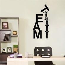 Creative Vinyl Wall Decal Sticker Team Work Teamwork Office Business Word Stickers Unique Gift Home Decor Art Mural