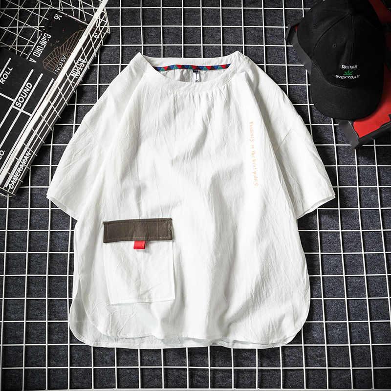 9XL 8XL 7XL 6XL 5XL Plus Größe Sommer Kurze Männer Ärmeln T-Shirt Männer Lose Hip hop Junge Flut Männer Student hemd Hülse