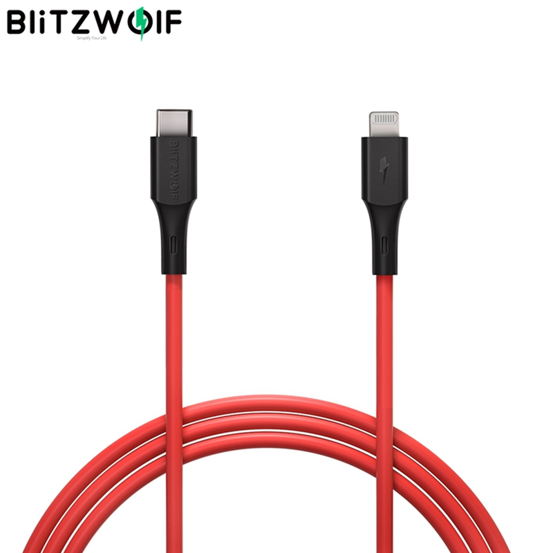 Blitzwolf BW-CL2 2.4A USB Type C to Lightning MFI Certified Date Charging Cable PD3.0 Phone Charger for iPhone 12 Mini Pro Max