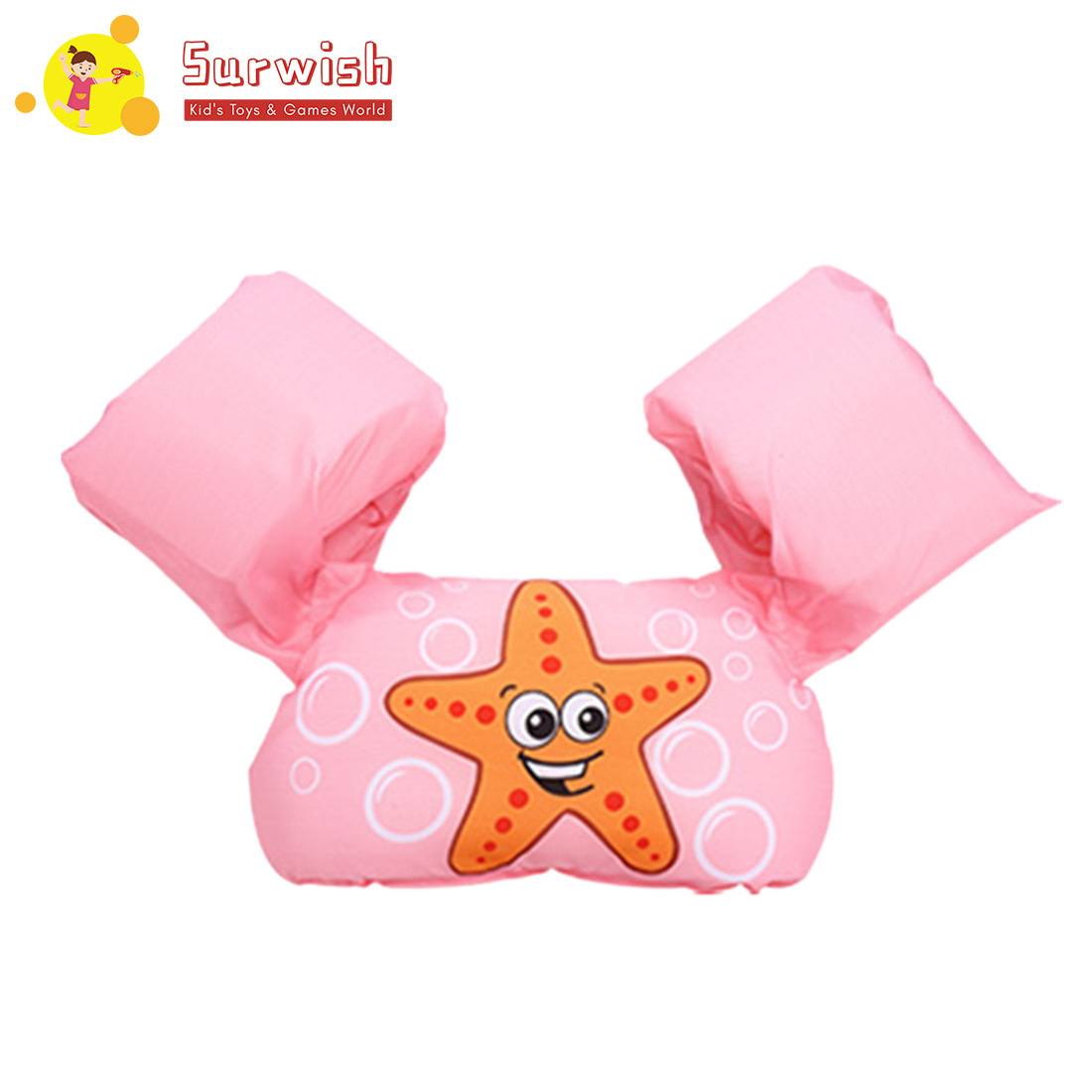 Surwish Baby Inflatable Swimming Arm Bands Floatation Sleeves Water Wings - Pink/Blue