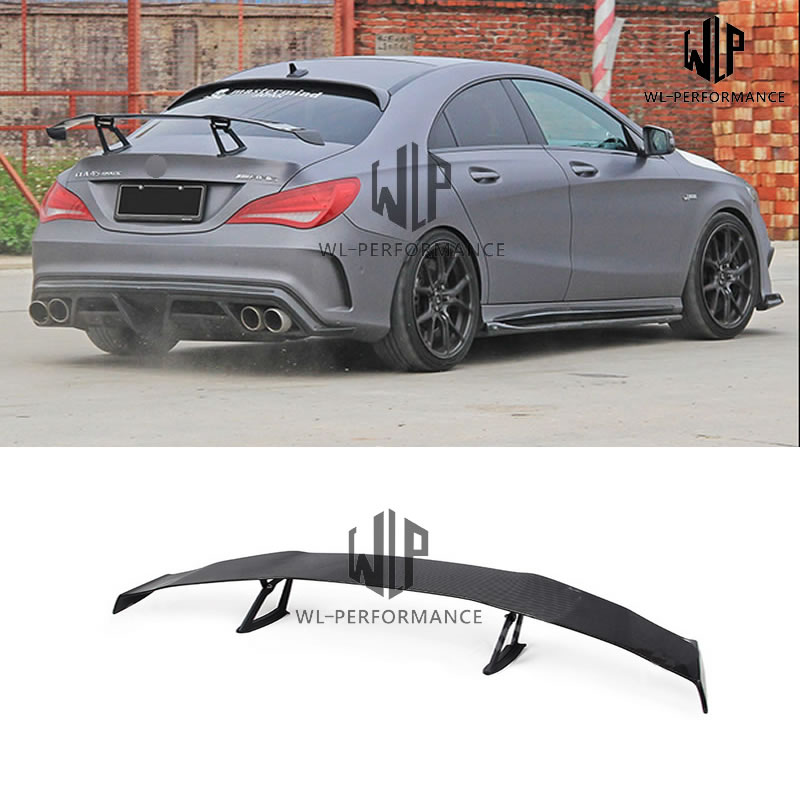 W117 <font><b>CLA250</b></font> High Quality Carbon Fiber Trunk Rear Spoiler Wing Car Styling For Mercedes Benz W117 CLA 250 Body Kit 13-15 image