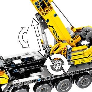 Image 5 - 市エンジニアリング機械車のビルディングブロックテクニック啓発 diy 建設レンガのおもちゃ子供のクリスマスプレゼント