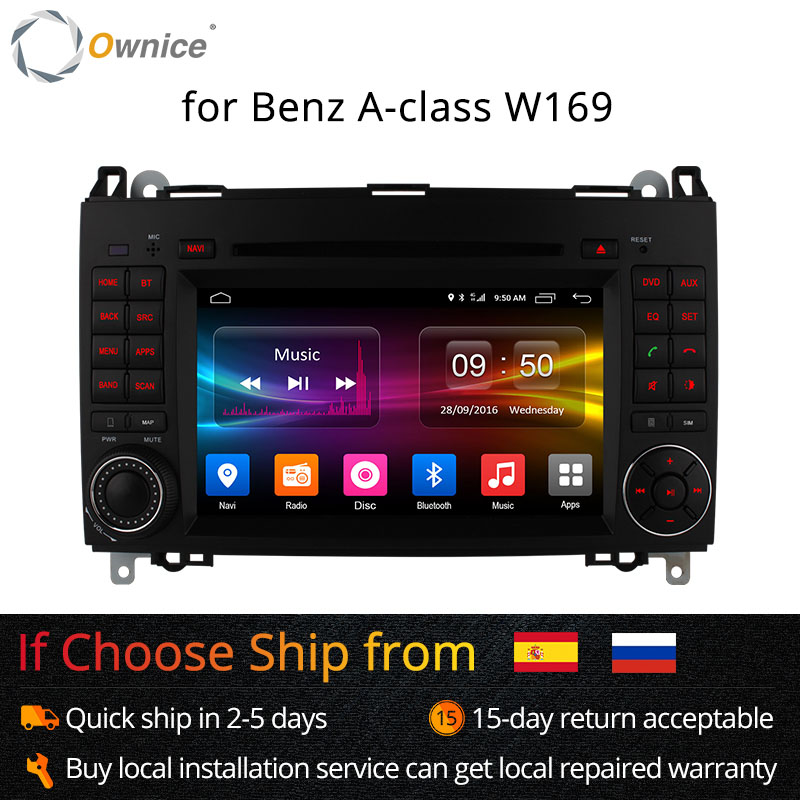 Ownice 4G SIM LTE Android 6,0 8 Core 32G ROM Auto DVD GPS Navi Für Mercedes A- klasse W169 Sprinter W209 Crafter Viano Vito LT3 W245
