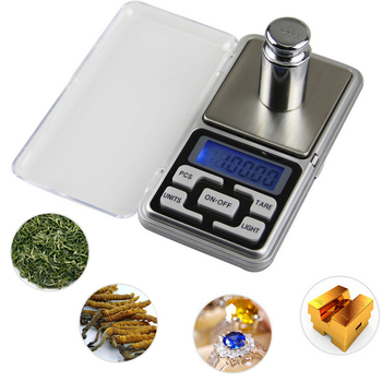 Jewelry Pocket Scale High Precision Gold Diamond Jewelry Scale Weighing Electronic Scale 100g/200g/300g/500gX0.01g/0.1g image
