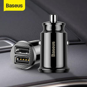 Baseus 12V Dual USB Car Charger 3.1A Fast Charging For Iphone Samsung Mini USB Auto Charging Car-Charger Accessories