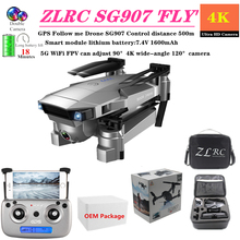 Quadcopter ZLRC SG907 RC Drone with 5G WiFi FPV Can Adjust 90° 4K Wide Angle 120° Camera GPS Follow Me Quadrocopter Foldable Toy цены онлайн