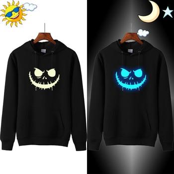 Anime Cartoon Sweatshirts Jack Skellington Hoodie Men Streetwear Pumpkin Skull Hoodies Mens Brand Clothes Sweatshirt Hood Russia фото