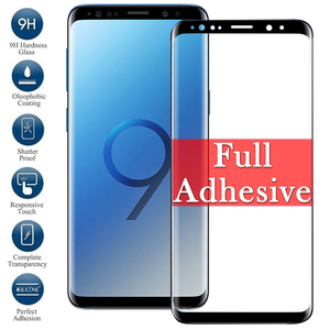 Full Glue Adhesive S 8 9 Glass On For Samsung Galaxy S8 S9 Plus Screen Protector S8Plus S9Plus Tempered Glas 8Plus 9Plus Armor(China)