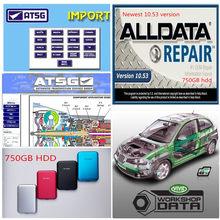 2021 venda quente software de reparação automóvel alldata software 10.53 vívido 10.2 diagramas de fiação do carro atsg com 750gb hdd dhl frete grátis