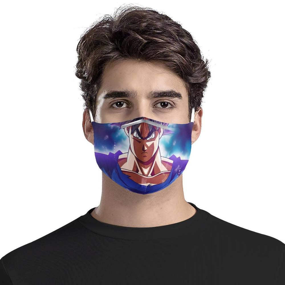Dragon Ball Mouth Face Mask Dustproof Breathable Women Men PM2.5 Mask Activated Carbon Filter Anime Sun Goku Masks