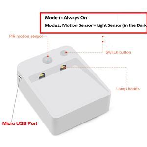 Image 3 - Sensor LED Nachtlampje Keuken Wandlamp PIR Motion Sensor Beweging Detecteren kast kast trappen pathway slaapkamer Verlichting