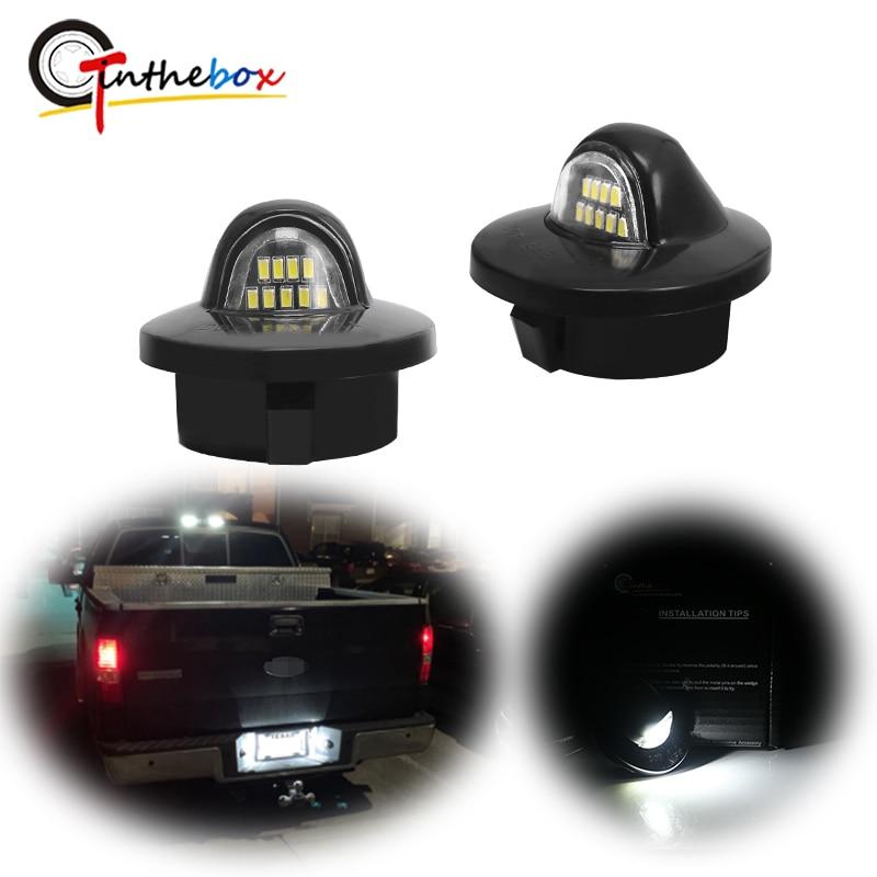 pair Fit 3W Full LED License Plate Light For Ford F150 Ranger Raptor Explorer