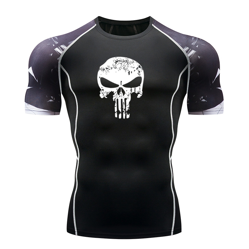 Sportswear T-Shirt MMA Fitness Jogging Running Tight Gym Quick-Drying Summer New And