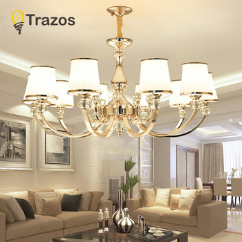 hot selling smoked k9 crystal chandelier lustre crystal chandeliers lustres de cristal chandelier e14 led ac lampshades included Luxury New K9 Modern Chandelier Lustre Crystal Chandeliers 3/6/8/10/Arm Lustres De Cristal Chandelier AC110V/220V lighting