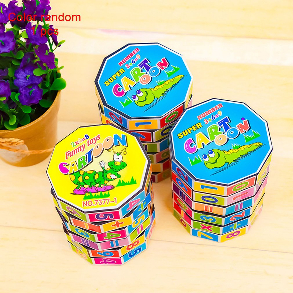 Cylindrical 6-layer Plastic Digital Magic Toy Learning Stationery Cylindrical Magic Cube Students Adult Fun Entertainment