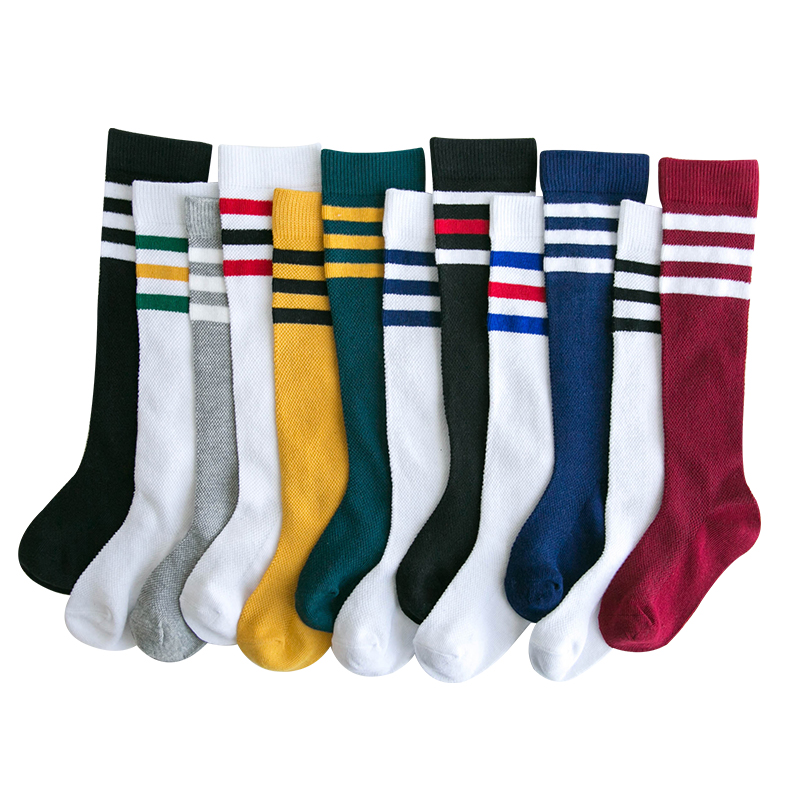 Kids Baby Knee High Socks For Girls Children Football - Stripe Teen Sports Wear Toddle Boy Cotton Long Socks Kids