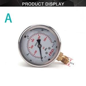 "Image 4 - مقياس ضغط غسالة الضغط العالي ، مقياس الضغط العالي مع تركيب G1/4 ""، مقياس ضغط هيدروليكي 400Bar 6000PSI"