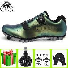 Sapatilha Ciclismo Mtb Ciclismo zapatos SPD cala Pedal Set profesional al aire libre atlético de carreras de auto-bloqueo de zapatillas de deporte de los hombres