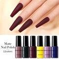 Лак для ногтей NICOLE DIARY матовый однотонный, 6 мл, Осень-зима, красный, фиолетовый цвет, стойкий лак для дизайна ногтей, украшения