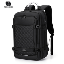 "Fenruien Men Expandable Backpack Large Capacity Multifunctional 15.6""Laptop backpacks Waterproof USB charging travel backpacking"