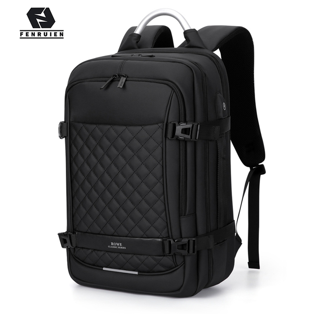 "Fenruien Men Expandable Backpack Large Capacity Multifunctional 15.6""Laptop backpacks Waterproof USB charging travel backpacking"