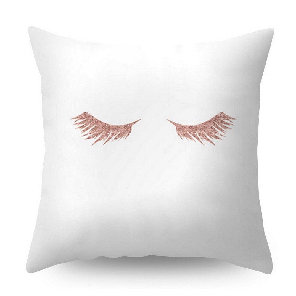 Розовое золото квадратная подушка крышка с геометрическим рисунком сказочной подушка чехол полиэстер декоративная наволочка для подушки для домашнего декора размером 45*45 см - Цвет: Белый