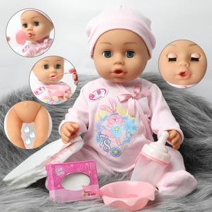 Реалистичная кукла-младенец 46 см, водонепроницаемая 18-дюймовая Реалистичная полностью мягкая силиконовая кукла-младенец, комплект одежды, ...