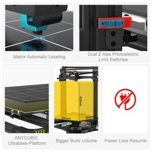 Image 3 - Anycubic 3d drukarka anycubic Chiron Plus duży rozmiar wydruku tanie 3D drukarka 400*400*450mm drukuj zestawy DIY FDM TFT impresora 3d