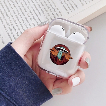 UFO Alien Pro Great Canyon Soft TPU Case For Apple AirPods 2 Transparent Earphone Case For Airpods 1 Funda Capa image