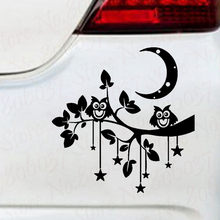 Car Sticker Lovely Owl Pattern Waterproof Removable Decal Art Cars Accessories WL2167(China)