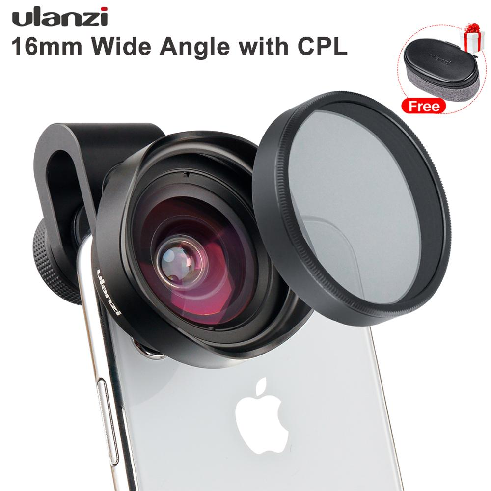 ULANZI 16mm HD Wide Angel Phone Lens with CPL Camera Lens Filter Universal for iPhone Samsang Android HUAWEI Smartphone
