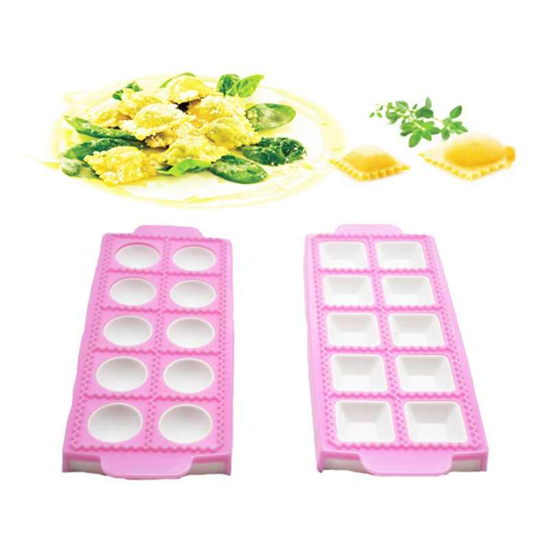 Household Kitchen Italian Style Dumpling Mold Silicone Fondant Mold Cake Decoration Mold Round Square Kitchen Accessories